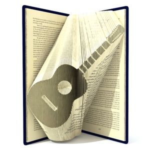 MADE TO ORDER! Guitar Book Folding GIFT